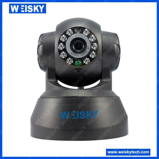 Wireless Mini WIFI IP Camera +LED +Pan/Tilt + Free Domain +Two-way Pronunciation(China (Mainland))