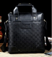 2013 New Hot Men's business Cow leather bag handbags Shoulder handbag men bags Computer package Christmas gift free shipping