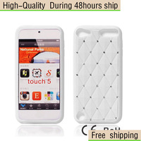 New Silicone Diamond Case Cover Shell For Apple iPod Touch 5 5th Gen Free Shipping UPS DHL CPAM MV-63
