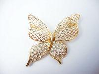 Free Shipping, Butterfly Brooch, Fashion Animal Brooch, High Quality Rhinestone Pin, BH00003