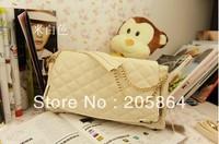 Free shipping 2012 elegant plaid design shoulder bag chain shoulder bag messenger handbags