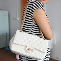 Free shipping Women's handbag dimond plaid design chain bag fashion messenger small bag