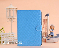 Lozenge Pattern Leather Case Leather Cover For iPad Mini