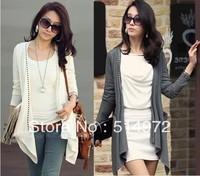 Best Selling!! Women's Long Sleeve shirt outerwear rivet cardigan T-shirt +free shipping