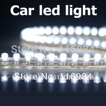 Bright White 24cm Car Headlight 24 Led Flexible Strip Fog DRL day Light Lamp