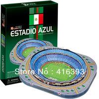Free Shipping, Wholesale CubicFun 3D puzzle building model educational toys - Mexico Stadium C059h