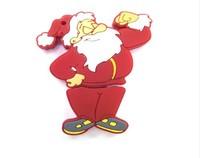 The best holiday gift cartoon design festival high quality USB 2.0 FLASH storage U disk/Christmas gift