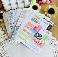 Free shipping wholesale sweet creative past times stamp diary Sticker fashion Index Label diy gift (20sets/Lot)