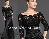 The Newest Mother of the Bride  Black lace  Quinceanera Dresses