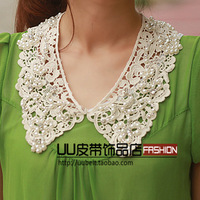 Female crochet pearl lace collar false collar necklace fashion vintage accessories