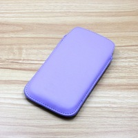 50pc/lot Soft PU Leather Pull TAB Slip Pouch Case Cover For iPhone5,12 colors Leather Case