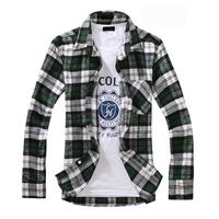 2014 New Alibaba express fashionable casual plaid shirt 3 colours