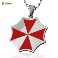 Bahamut Resident Evil Red Umbrella Necklace Pendant Dog Tag - Titanium Steel