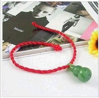Free shipping red rope bracelet hand-knitted bracelet peach pit red rope good luck couple auspicious wealth and bracelet-05