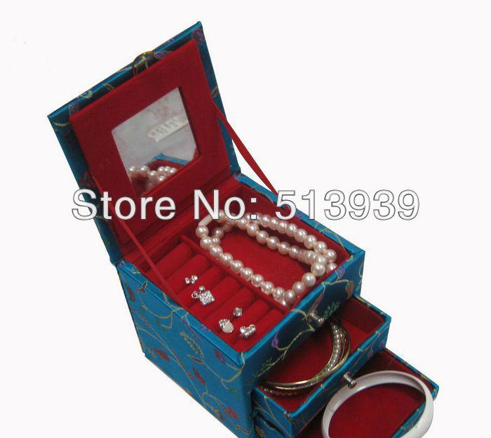 Wholesale nice birthday jewellery box case for storing earring,ring ,necklace(China (Mainland))