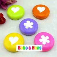 New cute flower designs contact lens case /  lens Companion box / Wholesale