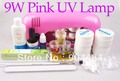 Full set Top Coat Builder Gel 9W Pink Color UV Curing Lamp 12in1 DIY Beauty Nail Kit For UV Nail Desgin + Free Gift 426