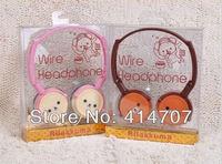 Free Shipping 1 piece x Rilakkuma R21 Earphone Cutest Cartoon Bear Headset for Kids 2 color