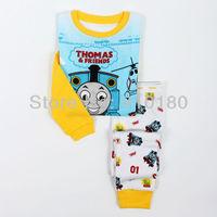 New arrivals 6pcs/lot kids cartoon Tomas Train pajamas baby jumpsuits/pyjamas bodysuit Christmas sleepwear/clothing