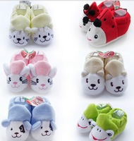 Free shipping wholesale 12pcs/lot baby first walkers socks cute animals baby shoes infant shoes indoor socks prewalker booties
