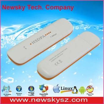 7.2Mbps High Speed Qualcomm MSM6280 3G Modem Mini USB DM6344U Support USSD & PC Voice & TF Card
