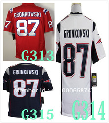 2012 New American Jerseys New England #87 Rob Gronkowski Game Version USA Football Jersey, size S-XXXL(China (Mainland))