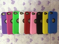 Free shipping 100pcs/lot Hard Silicone Defender case for ipod touch 5 5G 5TH