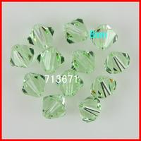 Free Shipping, 144pcs/Lot Chinese Top Peridot 8mm Crystal Bicone Beads