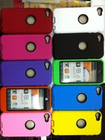 Free shipping 500pcs/lot Hard Silicone defender hybrid case cover for ipod touch 5 5G 5TH