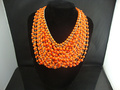 Min.order is$15(mix order)Free shipping,2012 fashion jewelry choker,New arrival special orange vintage statement collar necklace