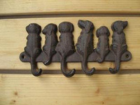 3 Pieces Rustic Cast Iron Dogs Key Rack Wall Mounted, Wall Coat Hooks Key Holder Hanging Decor Hat Hook Decor Fast Free Shipping