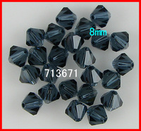 Free Shipping, 144pcs/Lot Chinese Top Montana 8mm Crystal Bicone Beads