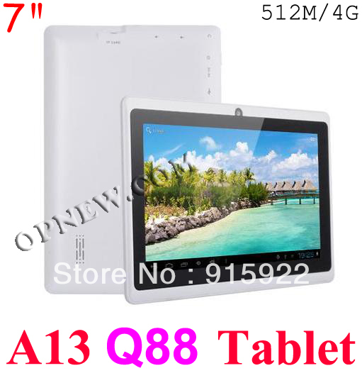 7 INCH Cheap Q88 Android 4.0 Capacitive with Camera WIFI Tablet Laptop Computer 7 colors in STOCK for Xmas Gift dropship(China (Mainland))