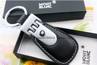 MB aluminum alloy keychain key chain classic male leather buckle on key ring car keychain
