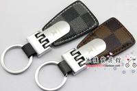 Classic male car keychain key ring beautiful key chain leather buckle on