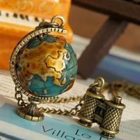 Min Order $20 (mixed order) E4218 fashion vintage globe necklace (KE)