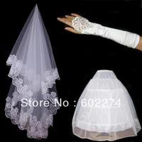 Bridal Veil Wedding Panniers Gloves Wholesale/Retail Free Shipping
