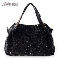 2012 female bags black temptation paillette fashion monopack a956-2121
