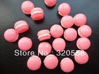 New arrive  Cabochons FlatBack Resins Scrapbooking Embellishment   Macaron cake pink 50pcs