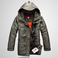 FREE SHIPPING down jacket Outdoor full removable liner down coat male