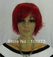 New Free Shipping Hot Item New Stylish Wine Red Short Shock Cosplay Wig Fiber Synthetic Hair Women's Girl's Party Wigs