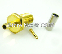Free shipping (100pcs/lot) SMA Jack female Connector crimp for RG174 RG179 RG316 RG188