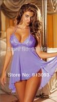 Wholesale Ladies Womens Sexy Lace Lingerie Dress Babydoll Costume Nightwear Underwear +G-String   T-84