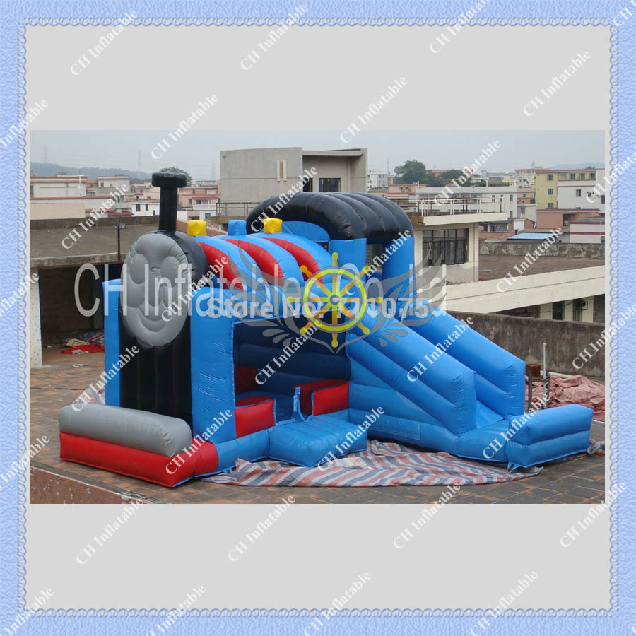 Hot Thomas Train Inflatable Jump & Slide Combo /Funny and Interesting Train Bouncer/6m by 6m/Kids Like it so much(China (Mainland))