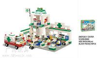 gift Building Block Set SlubanB5600 emergency center    Model Enlighten Construction Brick Toy Educational  Toy for Children