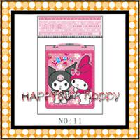 Cartoon Kuromi 50pcs / Lot  Kids Pass case ID holders Coin bags Gift Hotsale