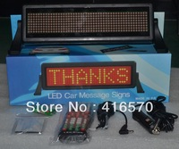 dot matrix 5V/12V 8X48 pixel remote control red moving scrolling message taxi led signs