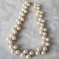 Fashion elegant pearl lady short Necklaces Very beautiful high recommend !Free shipping Min.order $15 mix order