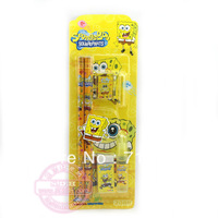 Wholesale Cartoon Sponge Bob  pencil set Stationery Variety of optional 10set/lot