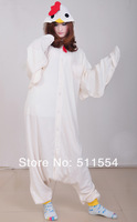 Free Quick Shipping One Piece White Rooster Animal Adult Cosplay Costume Women Kigu Pajamas For Christmas Gift Pajamas For Sale